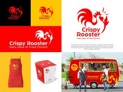 Crispy Rooster foodie fastfood food and drink food pro bono fast food hawker snacks beauty logo branding logotype branding design brand identity brand design logo design logodesign logo