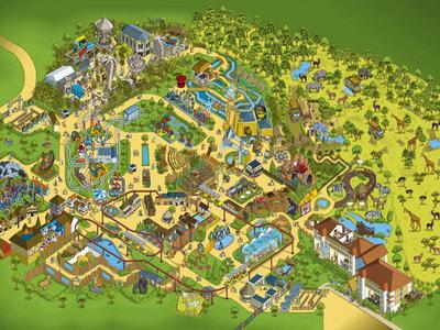 Chessington World of Adventures Theme Park Map