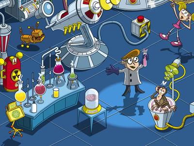 Cartoon Lab Coat  myltonscouk