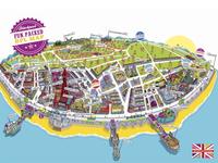 Visit Blackpool Resort Map Illustration