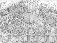 Places For People Pencil Rough