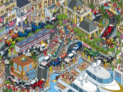 Top Gear Where's Stig? Monaco Grand Prix illustration