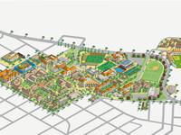 Santa Clara University Campus Map Illustration