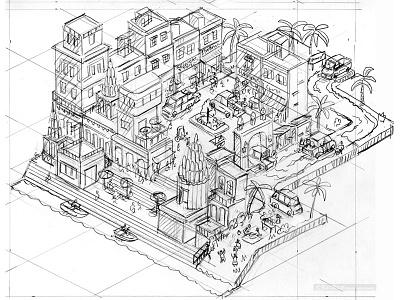 Store Keeper: Multix Utility Vehicle Testimonials Rough Drawing travel wip isometric illustrator illustration cityscape city cars business automotive advertising advert