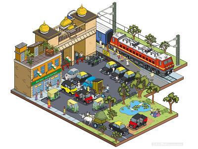 Taxi Business: Multix Utility Vehicle Testimonials Campaign pixel art travel isometric illustrator illustration cityscape city cars business automotive advertising advert