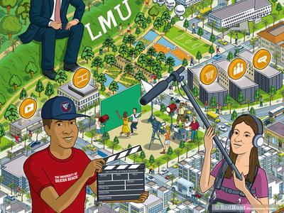 LMU City Advertising Campaign Illustration Pt 2