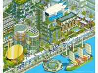 Megacity 2050: Bloomberg Businessweek Illustration