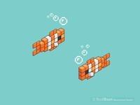 Clown Fish Assets for Minecraft Coral Crafters Animation