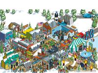 Frozen Dead Guy Days Festival Illustration - Norwegian Air