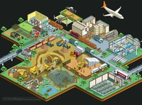 Materials Matter: Rare Earths Infographic. The Restart Project electronics recycling phones technology climate change green environmental environment maps map cityscape detail vector graphic illustration illustrator pixel art isometric infographics infographic