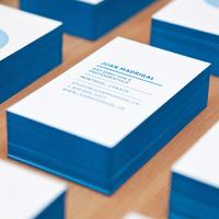 Letterpress business cards - Back
