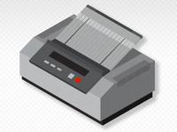 Vintage Fax Machine 02