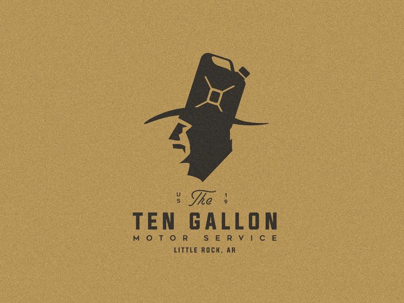 The Ten Gallon icon graphic design brand character art clean identity illustrator type lettering minimal flat typography branding vector logo design illustration