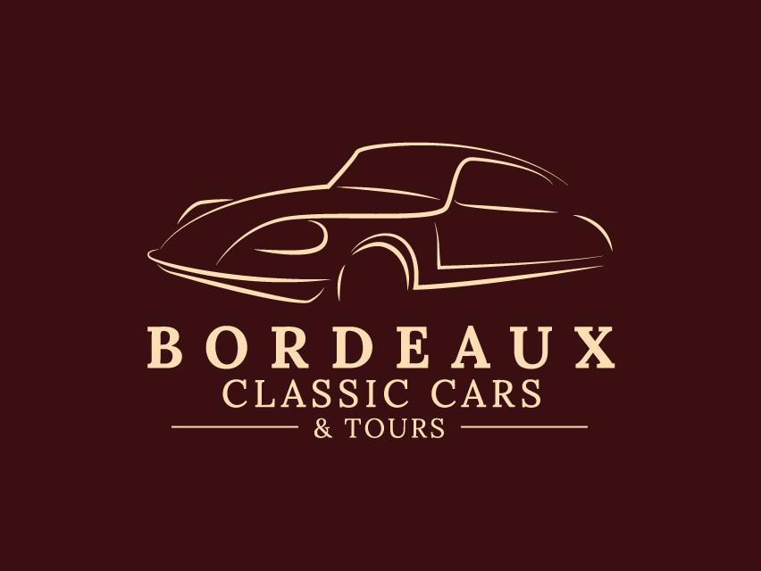 Bordeaux Classic Cars & Tours illustration design branding logo