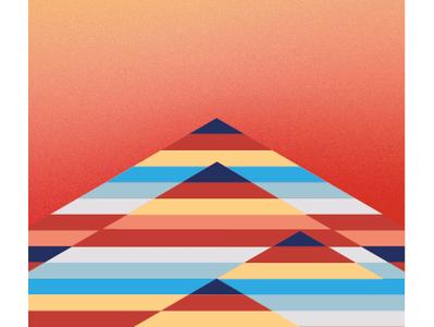 Sunset vector illustration flat design
