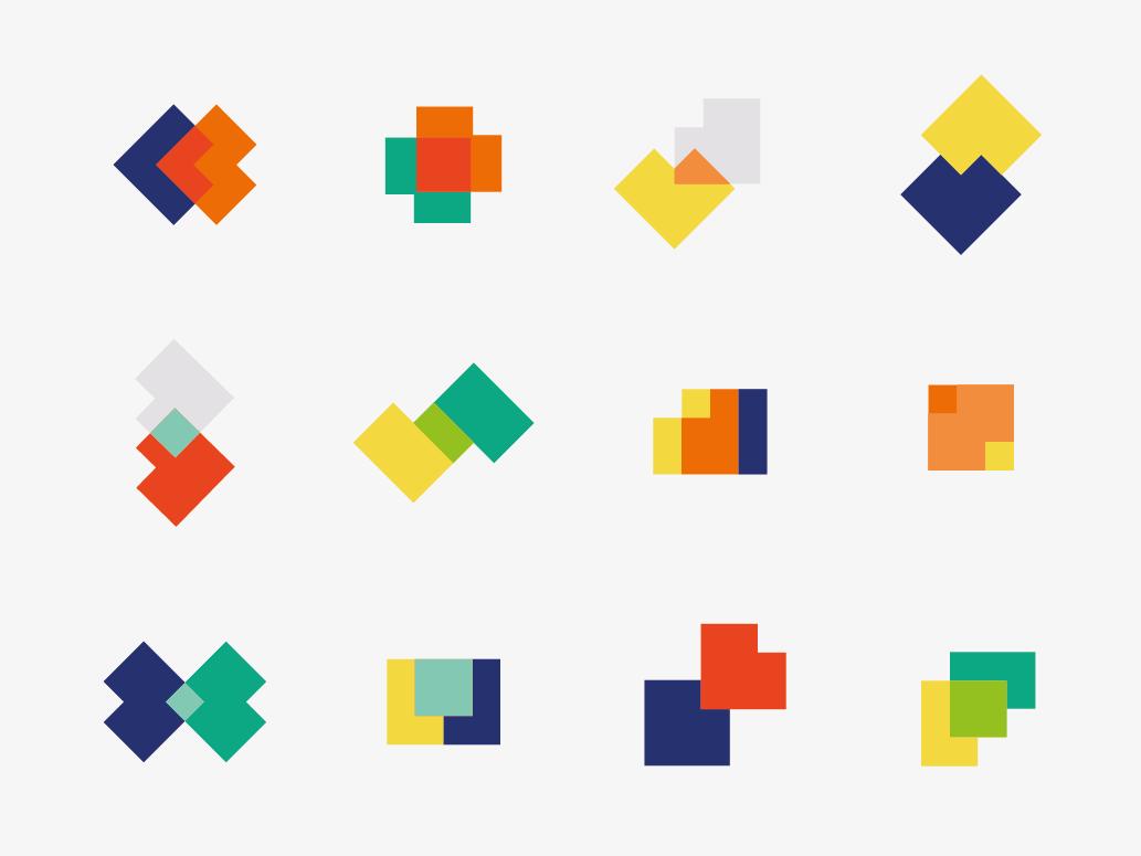 Overlay branding geometry colors vector illustration flat design