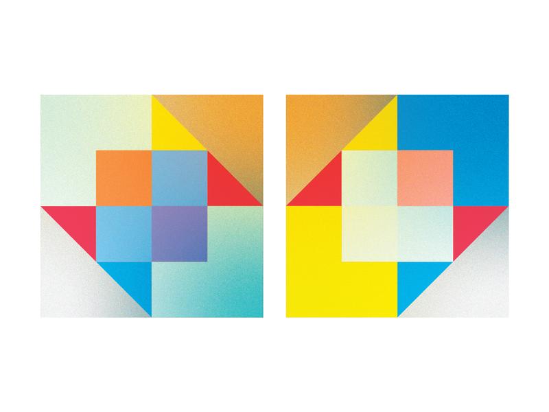 Cubes colour study logo concept architecture graphic  design geometry colors vector illustration flat design