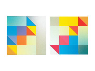 Cubes logo concept architecture graphic  design geometry colors vector illustration flat design