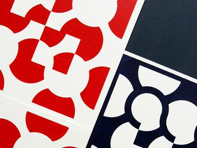 Poppy tiles screen print silkscreen print screenprint graphic  design geometry colors vector illustration flat design