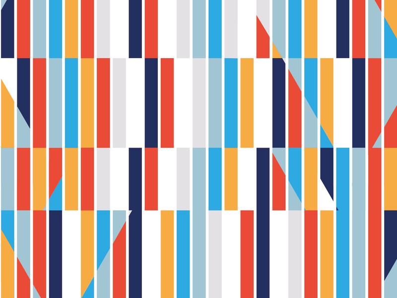 Colour study perception lines graphic  design geometry colors vector illustration flat design