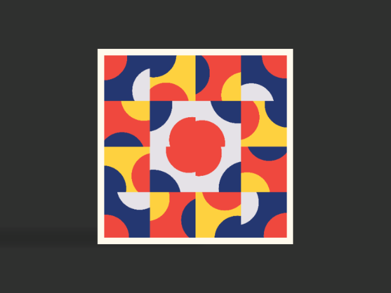 Poppy tile art geometricabstraction abstract repetition negativespace colourful colours pattern graphicdesign graphics geometricpattern geometry