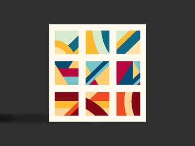 Nine tiles london landscape urban graphicdesign graphics flat illustration geometry vector flat colour design architecture