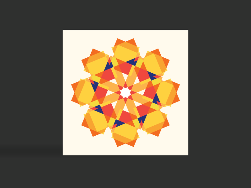 Mandala card mandala abstract colours colourful art graphics graphicdesign london graphic  design colors illustration vector flat geometry design