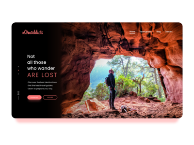 nomaddicts Landing Page