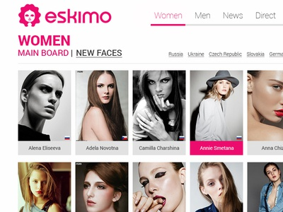 Eskimo Model Management website redesign