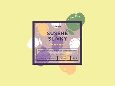 Sušené slivky eco bio branding identity packaging fruit plum rustic package label