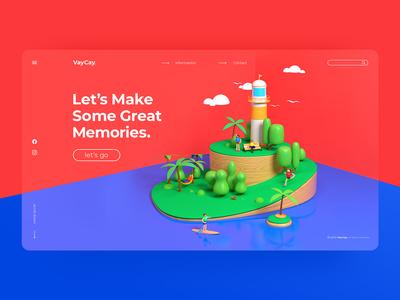 VayCay. Website Concept