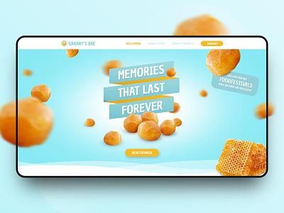 // Granny's Bae // Branding & Lading Page Concept redesign branding design ux ui website landing page online interface screendesign digital concept webdesign web