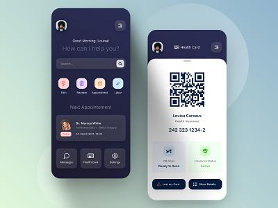 // ⛑HEALTHCARE APP DESIGN⛑ // health qr code healthcare application mobile design userexperience userinterface design digital ui ux concept app mobile