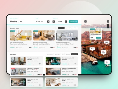 // BnB // Interactive 3D web experience 🔥 app venice italy experience interaction webdesign travel interface web digital concept design ui ux