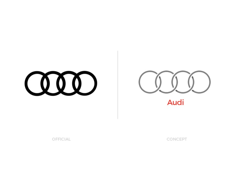 Audi Official Redesign Vs Concept By Paul Trubas Dribbble - Audi symbol