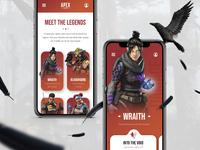 Apex Legends || App Concept