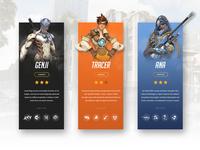 Overwatch Heroes || UI Concept