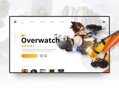 // GAME NEWS // Landing Page Concept