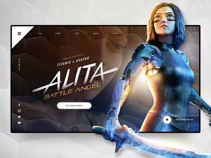 // ALITA: Battle Angel // Landing Page Concept