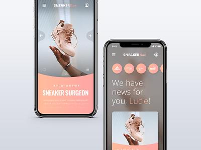 // SNEAKERbae // App Concept mobile ux ui web digital interface ui ux branding app online design lifestyle sneaker
