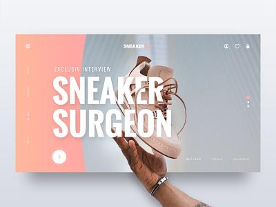 // SNEAKERbae // Landing Page Web Concept typography branding graphic web design ux ui concept online digital lifestyle sneaker