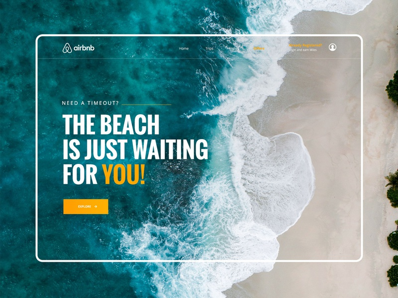 // The Beach is just waiting for you // Landing Page Concept