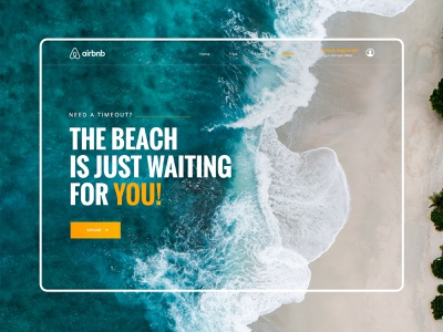 // The Beach is just waiting for you // Landing Page Concept landingpage interface ux ui airbnb holidays online website concept design