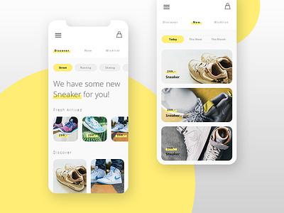 // Minimalistic Shop App // interface ux ui screen design mobile app shop minimalistic