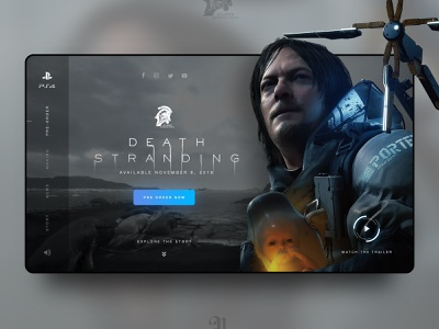 Death Stranding // Landing Page Concept game ps4 desktop death stranding screendesign ux ui web design landingpage concept