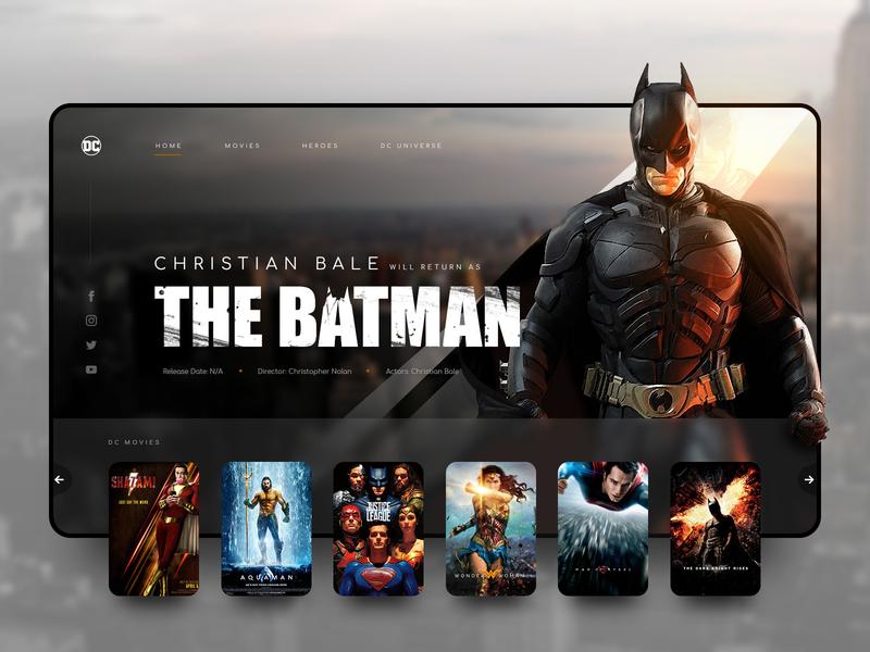 // THE BATMAN // DC Movies – Landingpage Concept