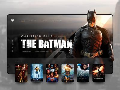 // THE BATMAN // DC Movies – Landingpage Concept ux ui art direction concept landingpage design digital online christian bale batman dcuniverse dc