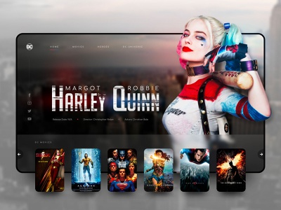 // HARLEY QUINN // DC Movies – Landingpage Concept V2 rebound streaming online digital design ux ui interface dcuniverse dc batman harley quinn