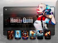 // HARLEY QUINN // DC Movies – Landingpage Concept V2
