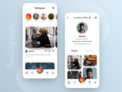 // INSTAGRAM // Redesign Concept for the App interface rebrush redesign online digital design ux ui stream social app web concept facelift instagram